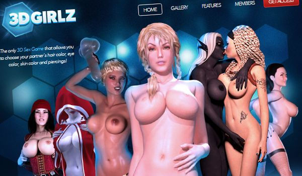 Adult fuck game with animated virtual 3d girls