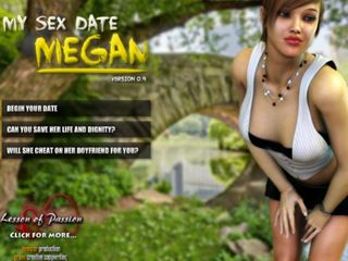 Sexy Megan schoolgirl fucks in a sex story game