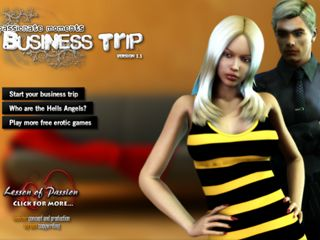 Sexy business trip in free online adult flash game