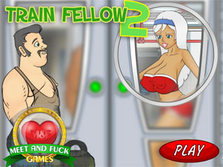 Sexy girls fucked for free in a public train game