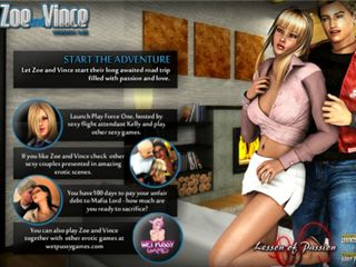 RPG flash adult game with sexy young couple fucks